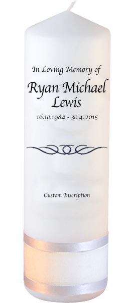 Custom Memorial Candles flourish font 2