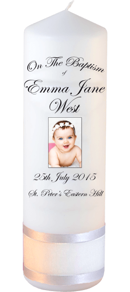 Baptism Candle Ceremony plus Font 3 Baby Picture