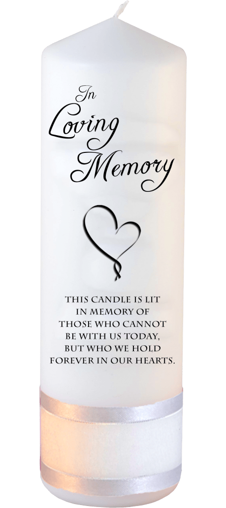 Memorial Candle Loved Ones Font 1 Heart