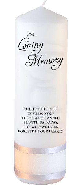 Memorial Candle Loved Ones font 1 no motif
