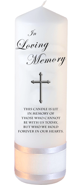 Memorial Candles Loved Ones Font 3 cross