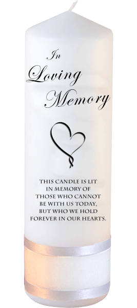 Memorial Candles Loved Ones Font 3 heart