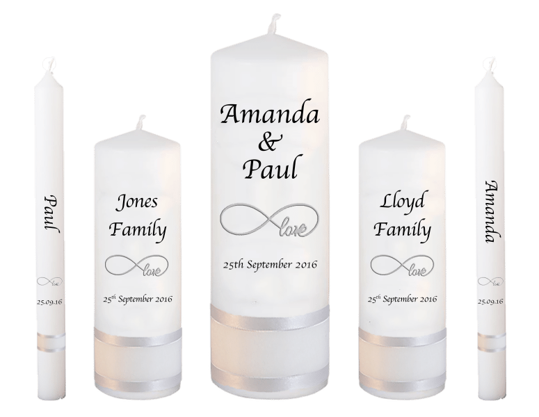Wedding Candle Deluxe Set Classic font 1 - love