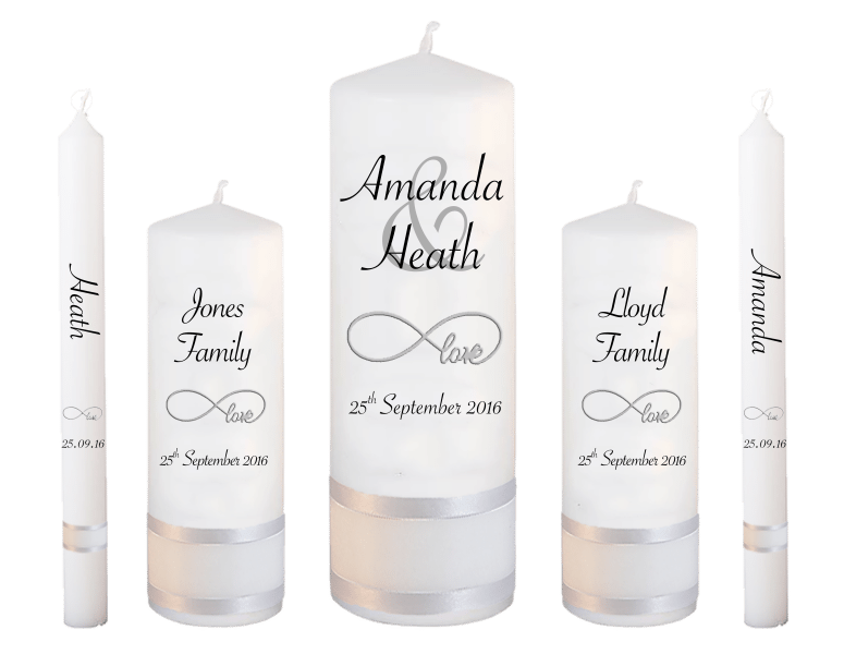 Wedding Candle Set Deluxe Modern font 4 - love