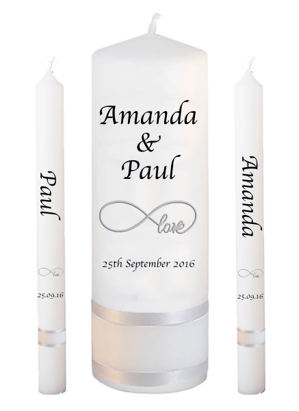 Wedding Candle Lighting Set Classic Font 1 - love
