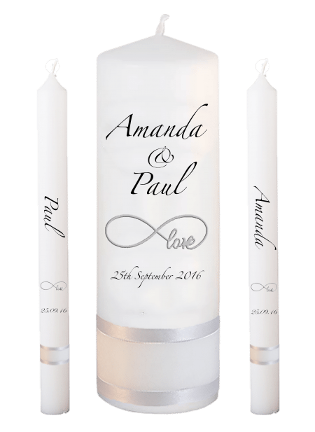 Wedding Candle Set Lighting Classic Font 3 Love