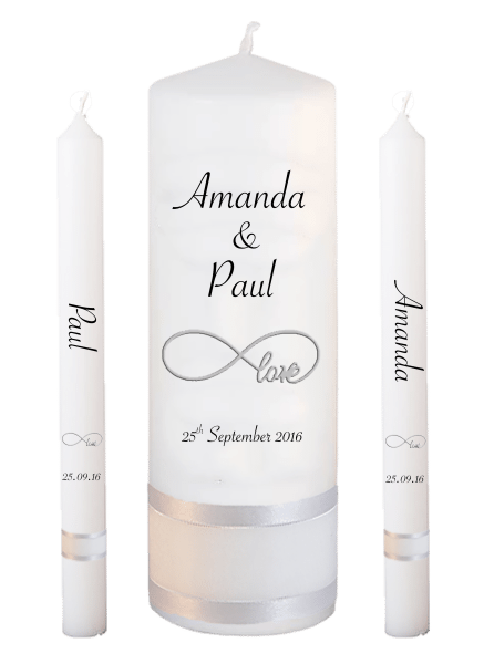 Wedding Candle Lighting Set Classic Font 4 - love