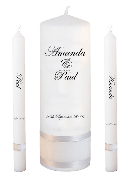 Wedding Candle Lighting Set Classic font 2 no motif