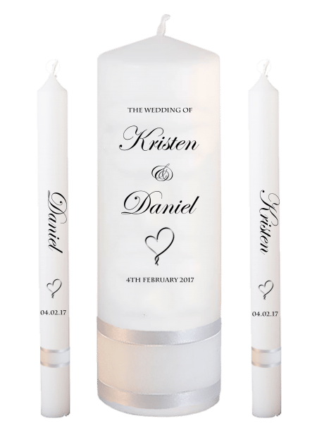 Wedding Candle Set Lighting Formal Font 2 Heart