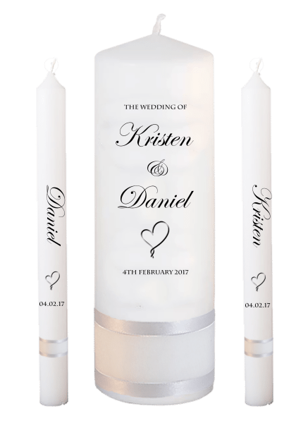 Wedding Candle Lighting Set Formal Font 2 - heart