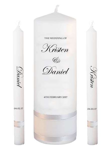 Wedding Candle Lighting Set Formal Font 2 - no motif