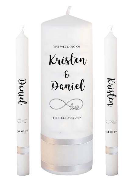 Wedding Candle Lighting Set Formal Font 3 - love