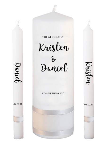 Wedding Candle Set Lighting Formal Font 3 No Motif