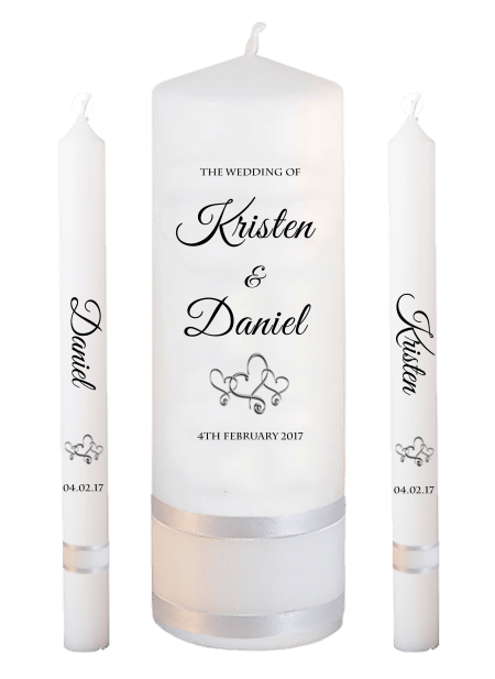 Wedding Candle Set Lighting Formal Font 5 Hearts