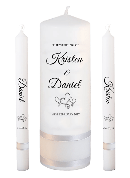 Wedding Candle Lighting Set Formal Font 5 - hearts