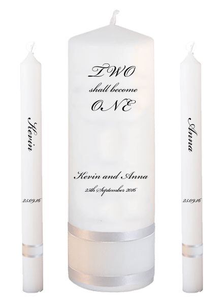 Wedding Candle Lighting Set Inscirption font 5 no motif