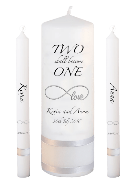 Wedding Candle Lighting Set Inscription Font 3 - love