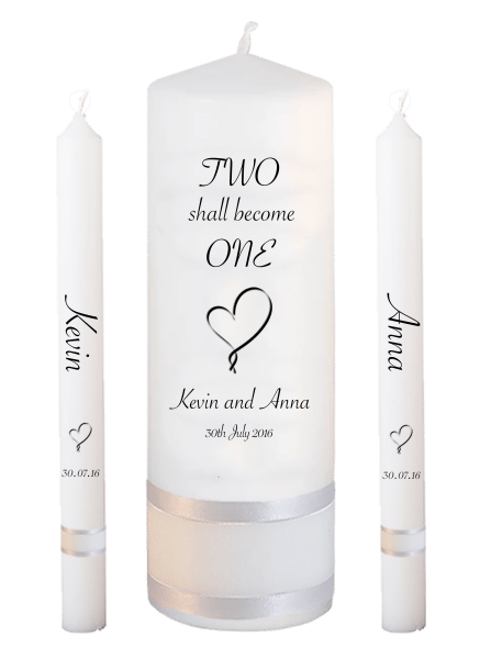 Wedding Candle Lighting Set Inscription Font 4 - heart