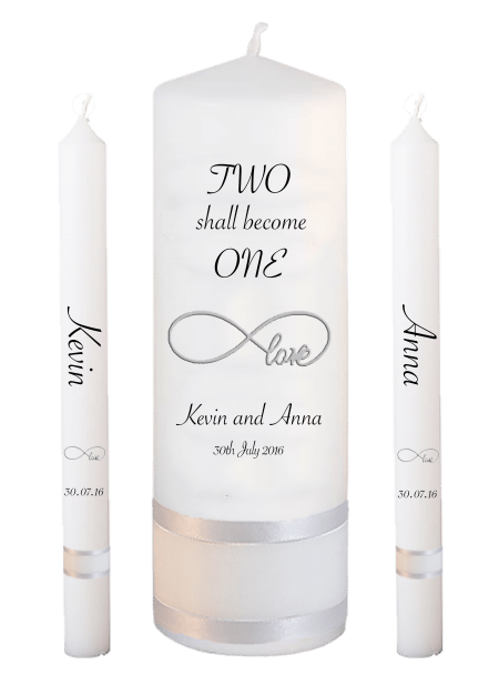 Wedding Candle Set Lighting Inscription Font 4 Love