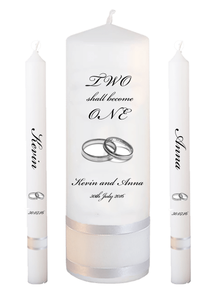 Wedding Candle Lighting Set Inscription Font 5 - silver rings