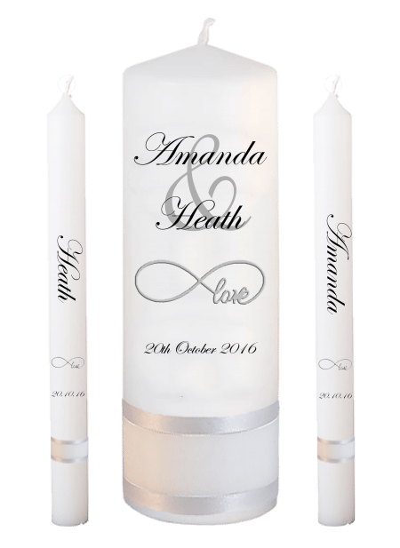 Wedding Candle Set Lighting Modern Font 2 Love