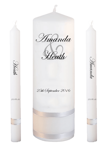 Wedding Candle Lighting Set Modern font 2 no motif