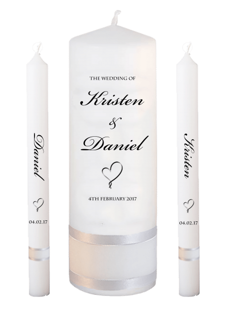 Wedding Candle Set Lighting Formal Font 1 Heart