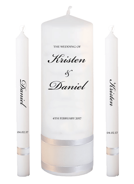 Wedding Candle Lighting Set Formal Font 1 - no motif