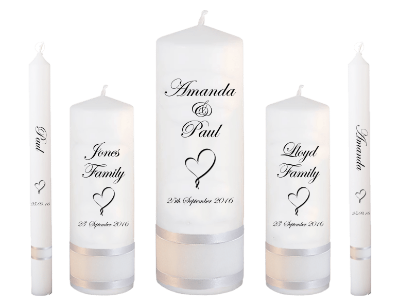 Wedding Candles Deluxe font 2 heart