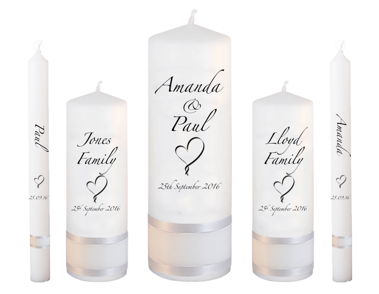Wedding Candles Deluxe font 3 heart