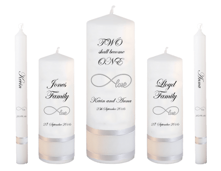 Wedding Candle Set Deluxe Inscription Font 2 Love