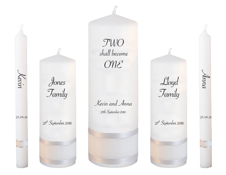 Wedding Candle Set Deluxe Inscription font 4 - no motif