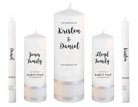 Wedding Candle Set Deluxe Formal Font 3 No Motif