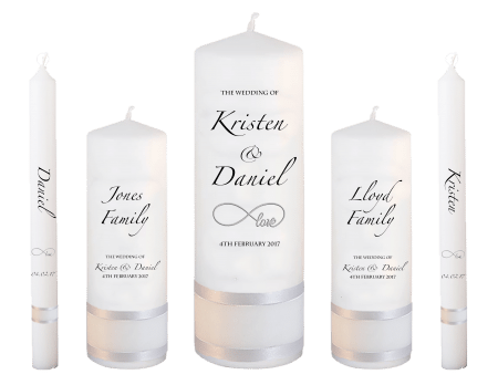 Wedding Candle Set Deluxe Formal Font 4 Love