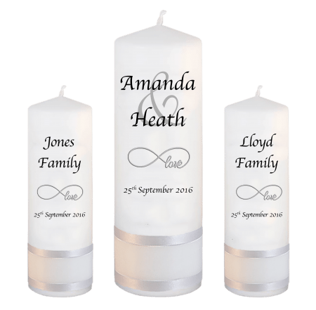 Wedding Unity Candle Set Modern Font 1 Love