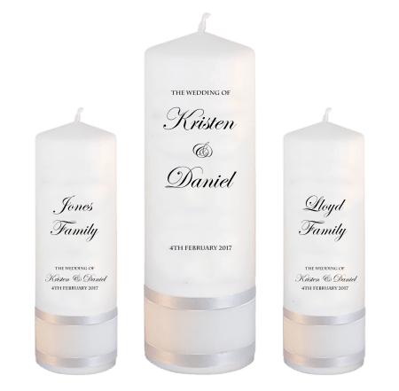 Wedding Unity Candle Set Formal Font 2 No Motif