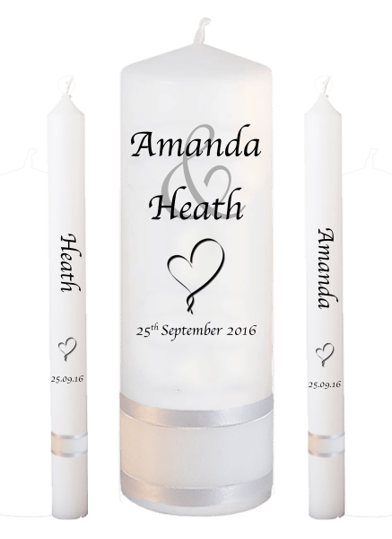 Candle Lighting Set Modern Font 1 heart