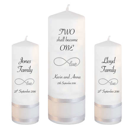 Wedding Unity Candle Set Inscription Font 4 Love