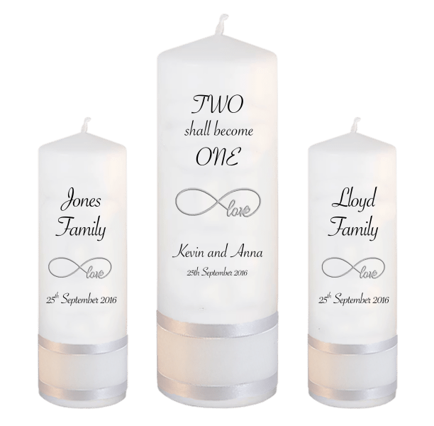 Wedding Candle Unity Set Two Shall Font 4 love
