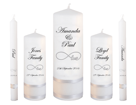 Wedding Candle Set Deluxe Classic Font 2 Love