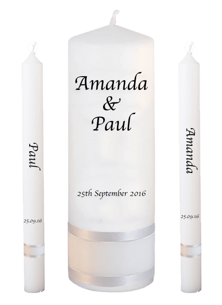 Wedding Candle Set Lighting Classic Font 1 No Motif