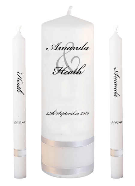 Wedding Candle Set Lighting Modern Font 5 No Motif