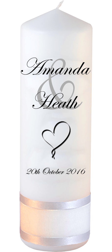 Wedding Candles Modern Font 2 Heart