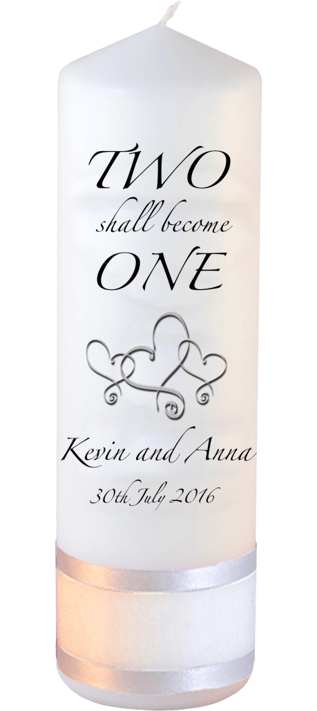 Wedding Candle Inscription Font 3 Hearts