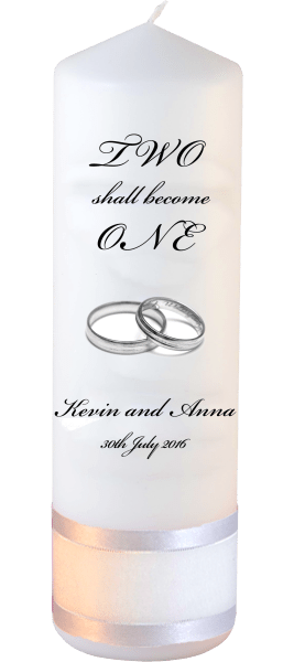 Wedding Candles Two Shall Become One Detail font 3 heartWedding Candles Inscription Font 5 silver rings