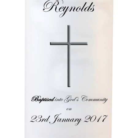 Baptism Candle Welcoming - Font 3 Cross 2