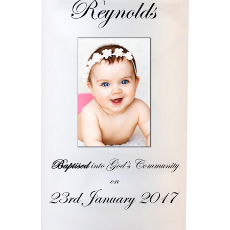 Baptism Candle Welcoming - Font 3 Photo
